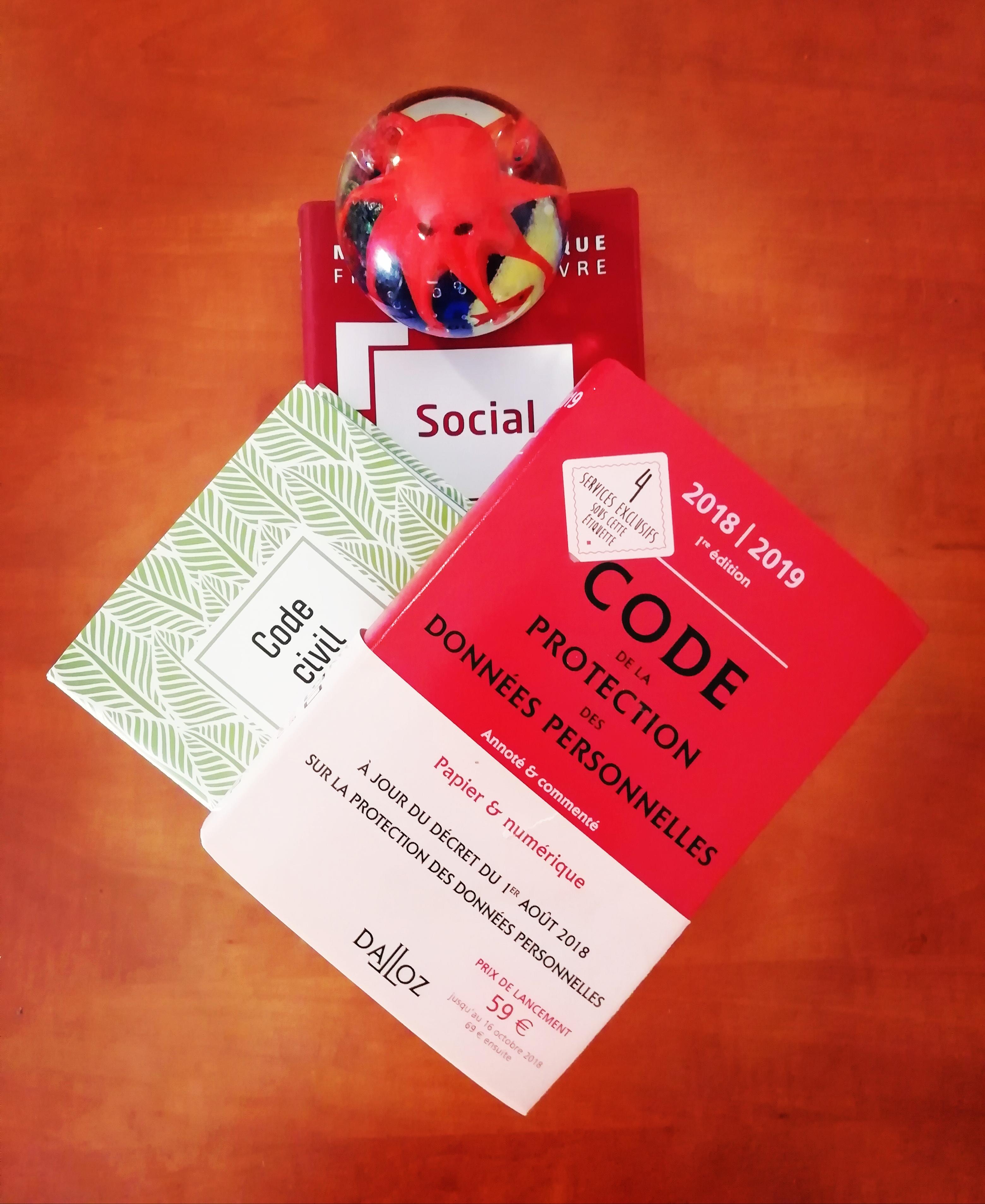 Code de la Protection des Données personnelles, Code civil, Memento social et pieuvre de Murano